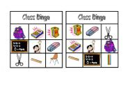 English Worksheets: Class Bingo: Practising Classroom Vocabulary doc1