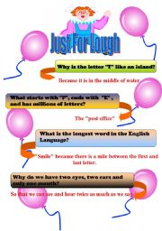 English Worksheets: just for laugh