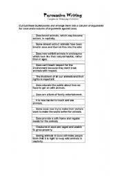 English Worksheets: Arguments