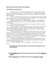 English Worksheets: Reading comprehension on a Fabl