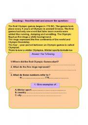 English Worksheets: Winter sports