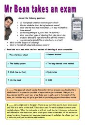 English Worksheet: Mr Bean goes back to school - VIDEO SESSION (9:56)