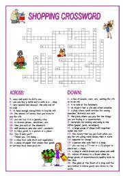 shopping crossword esl worksheet by 0lynxy0. Black Bedroom Furniture Sets. Home Design Ideas