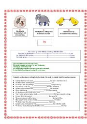 English Worksheets:  by and until