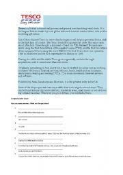 English Worksheets: Tesco