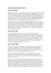 English Worksheets: The Merchant of Venice Act One ( Shekespear)