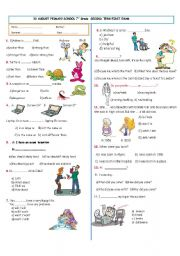 English Worksheet: 7th Grade Exam  (part 1)