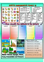 English Worksheets: CUTE ANIMALS PART 3