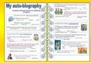 English Worksheet: My auto-biography