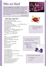 English Worksheet: Hush hush / teaching with songs