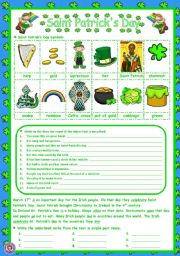 English Worksheet: SANT PATRICK´S DAY - Introduction