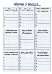 English Worksheet: classroom competition, general vocabulary game, EDITABLE!!