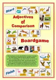 Adjectives of Comparison-Boardgame (2/2)