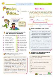English Worksheet: Introducing the Passive Voice Series (3) - Present Perfect plus Past Perfect
