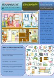 English Worksheet: PARTS OF THE DOLL HOUSE