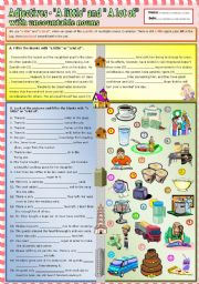 English Worksheet: Adjectives -