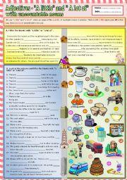 English Worksheet: Adjectives -