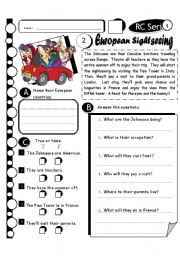 English Worksheets: RC Series Level 1_24 European Sightseeing (Fully Editable + Answer Key)