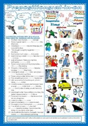 English Worksheet: Prepositions:At-On-In (+Key)