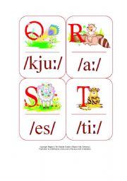 English Worksheet: My Phonetic Animal Alphabet Flash cards 3/7