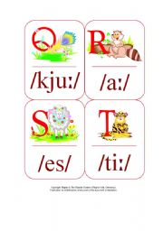 My Phonetic Animal Alphabet Flash cards 3/7