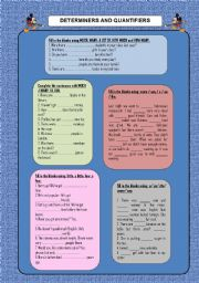 English Worksheets: Determiners and quantifiers