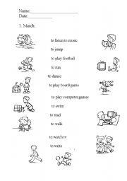 English Worksheets: Action worksheets