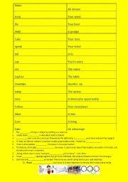 English Worksheet: CAE - C1 - Advanced - Verb noun colocations Maching game + practice