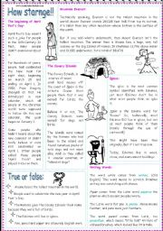 English Worksheets: How starnge!!