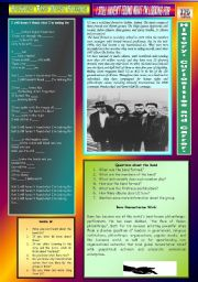 English Worksheets: I STILL HAVEN´T FOUND WHAT I´M LOOKING FOR - U2 - PART 01