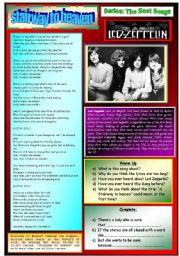 English Worksheet: STAIRWAY TO HEAVEN - LED ZEPELIN -  PART 01