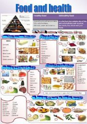 English Worksheet: Where is the main food group found?
