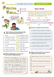 English Worksheet: Introducing the Passive Voice Series (4) - Will plus Be Going To Future