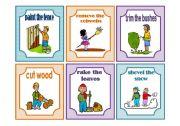 English Worksheet: Household Chores - Flashcards (1/3)