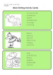 English Worksheets: More Writing Activity Cards
