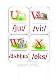 English Worksheet: My Phonetic Animal Alphabet Flash cards 2/7
