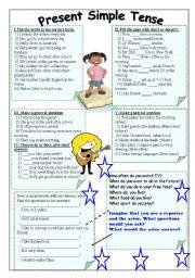 English Worksheet: Present Simple Tense.