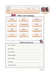 English Worksheets: Practise Writing