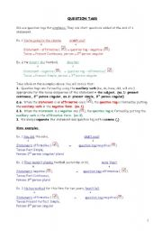 English Worksheets: question tags, upper-elementary (fully editable)