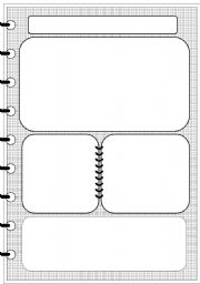 English Worksheets: layout - notebook (editable)