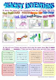 English Worksheet: Wacky Inventions