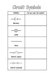 Home > Other printables worksheets > Circuit Symbols