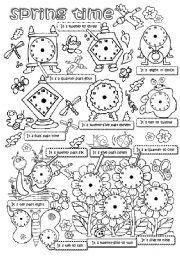 English Worksheet: SPRING TIME