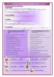 English Worksheets: Writing negative sentences