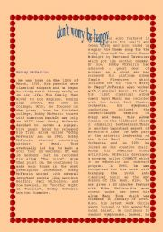 English Worksheets: song part 2 don´t worry be happy