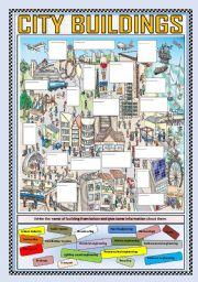 English Worksheet: CITY BUILDINGS