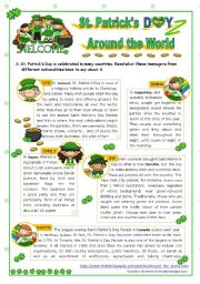 English Worksheet: St. Patrick´s Day Set  (3)  -