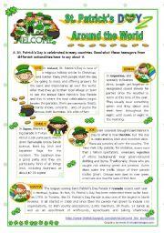English worksheet: St. Patrick´s Day Set  (3)  -