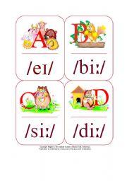 English Worksheet: My Phonetic Animal Alphabet Flash cards 7/7