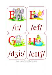 English Worksheet: My Phonetic Animal Alphabet Flash cards 6/7
